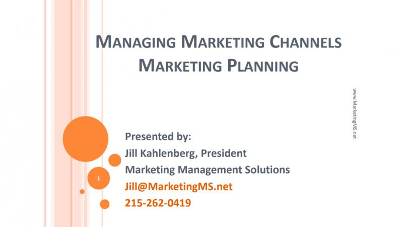 Marketing Channels Lecture by Jill Kahlenberg at Del Val College